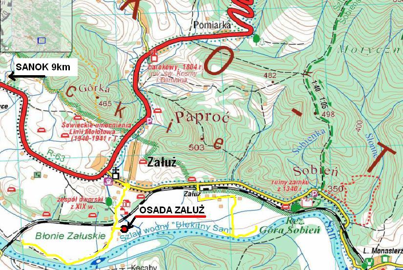 mapa osada
